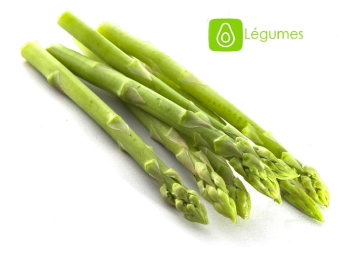 asperges entières et vertes avec logo légume